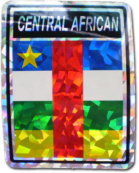 Central African Republic Reflective Decal