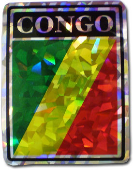 Congo - Rep. Of Reflective Decal