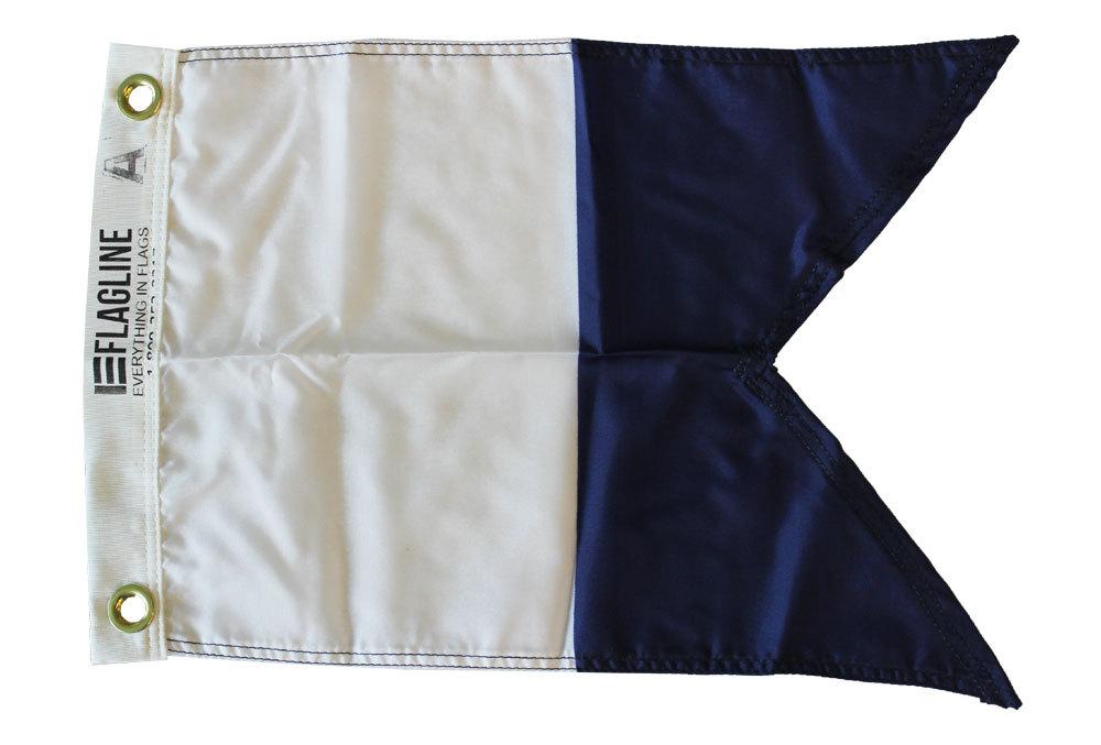Nautical letter a 12x15 dye