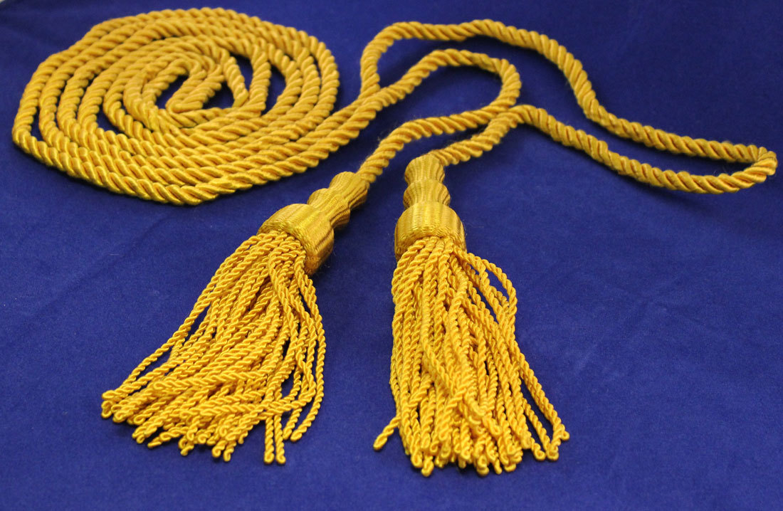 "Cord and Tassels - 5""X9' Golden Yellow Cord and Tassels"