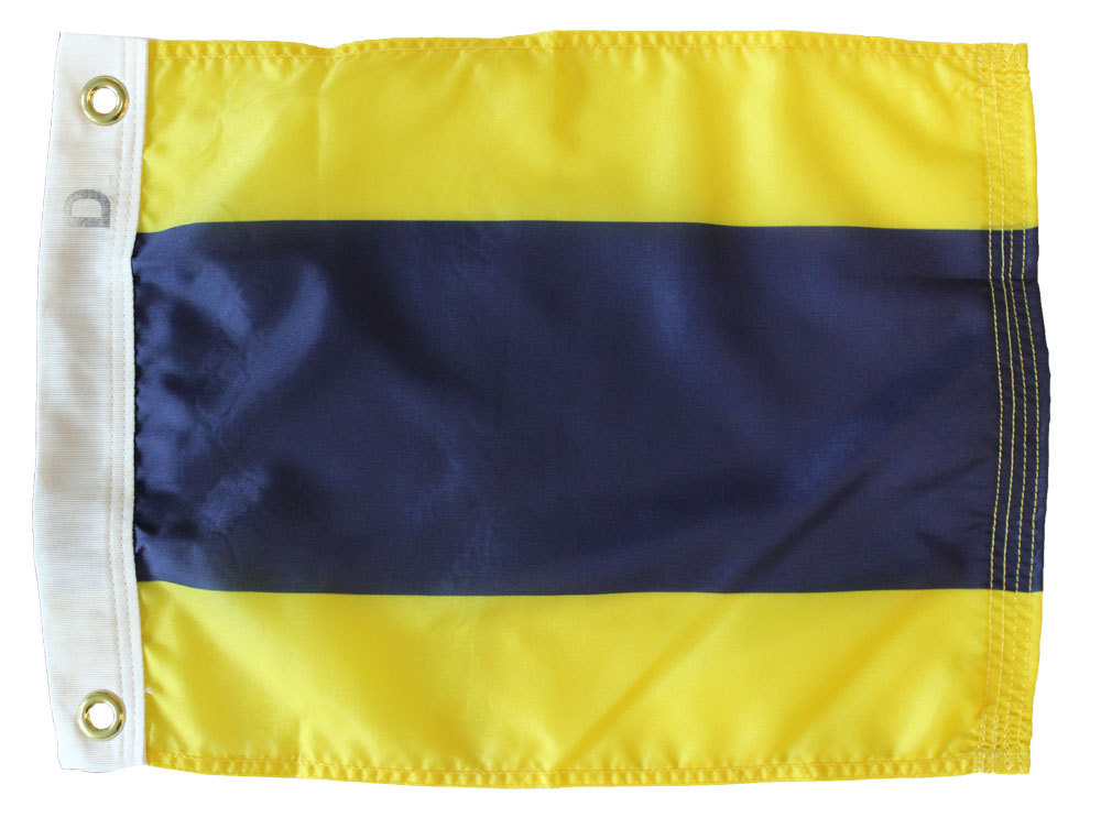 Letter D - Nautical Code Signal Nylon Flag
