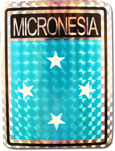 Micronesia reflective decal 0