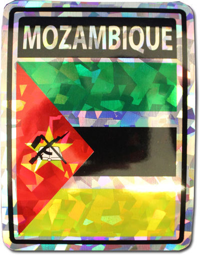 Mozambique reflective decal