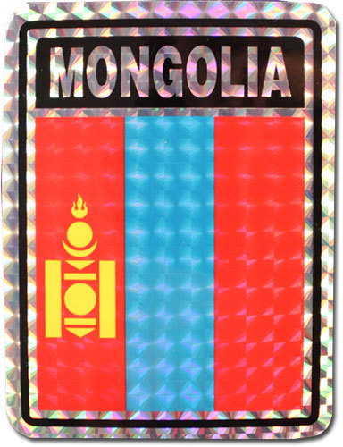 Mongolia reflective decal