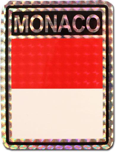 Monaco reflective decal