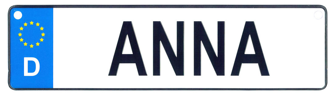Anna license plate