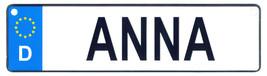 Anna license plate thumb200
