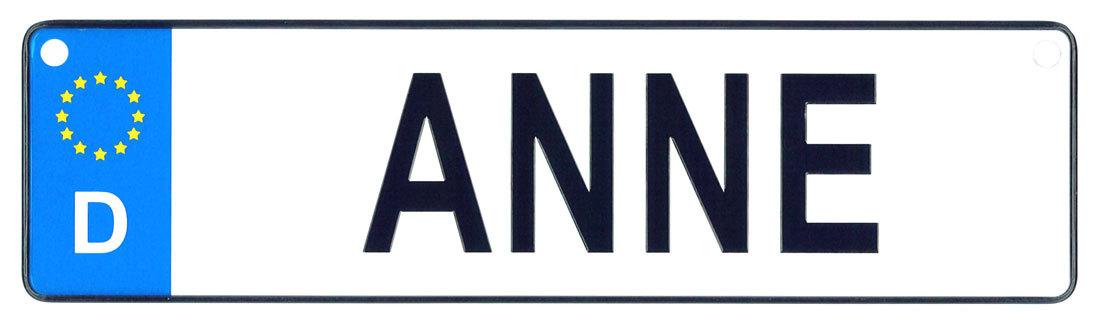 Anne license plate
