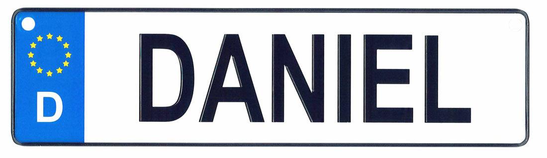 Daniel license plate