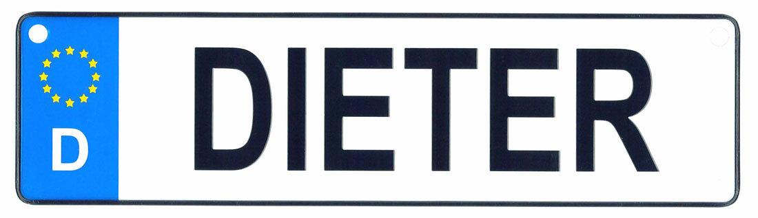 Dieter license plate