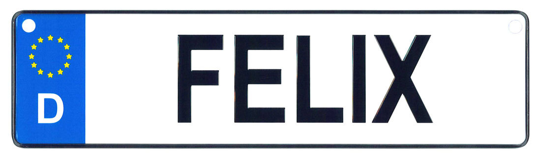 Felix license plate
