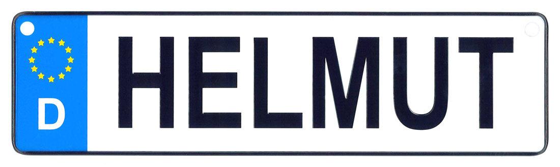 Helmut license plate