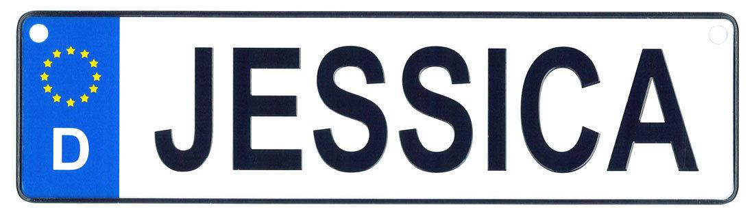 Jessica license plate
