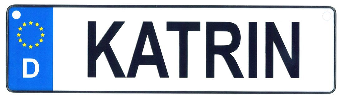 Katrin - European License Plate (Germany)