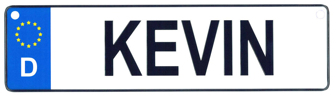 Kevin license plate