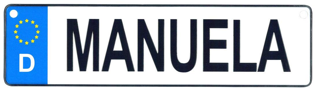 Manuela license plate