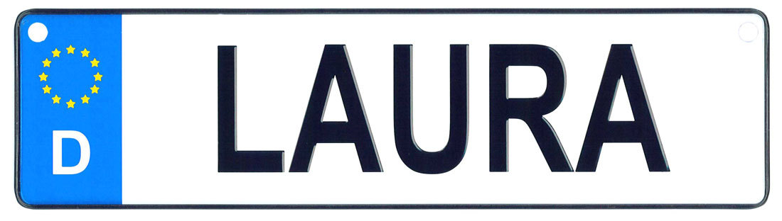 Laura license plate