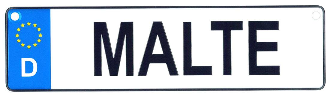 Malte license plate
