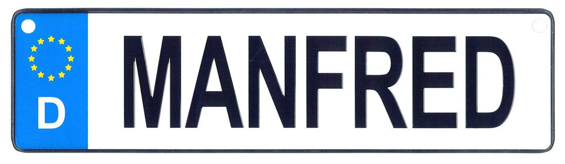 Manfred license plate