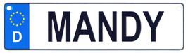 Mandy license plate thumb200