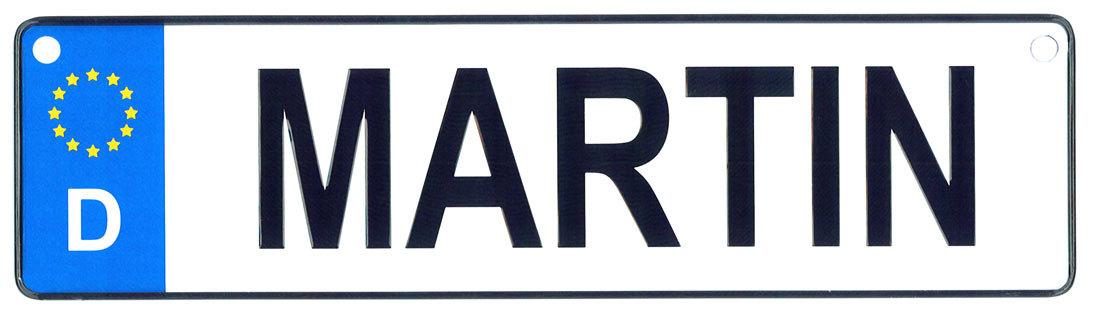 Martin license plate