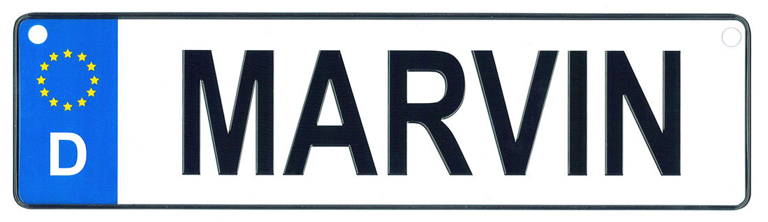 Marvin license plate