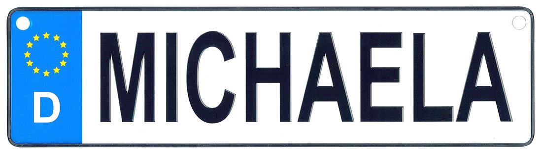 Michaela license plate