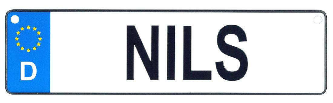 Nils license plate