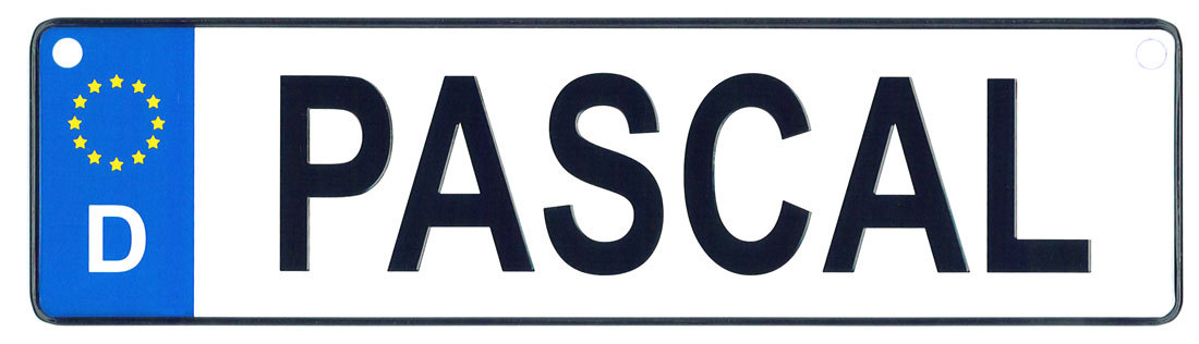 Pascal license plate