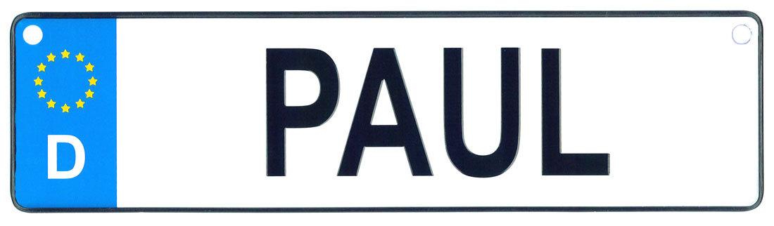 Paul license plate