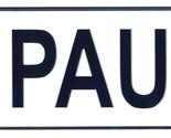 Paul license plate thumb155 crop