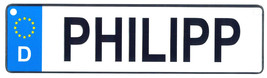 Philipp - European License Plate (Germany) - $9.00