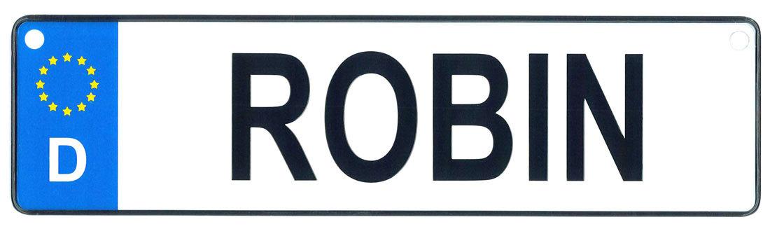 Robin license plate