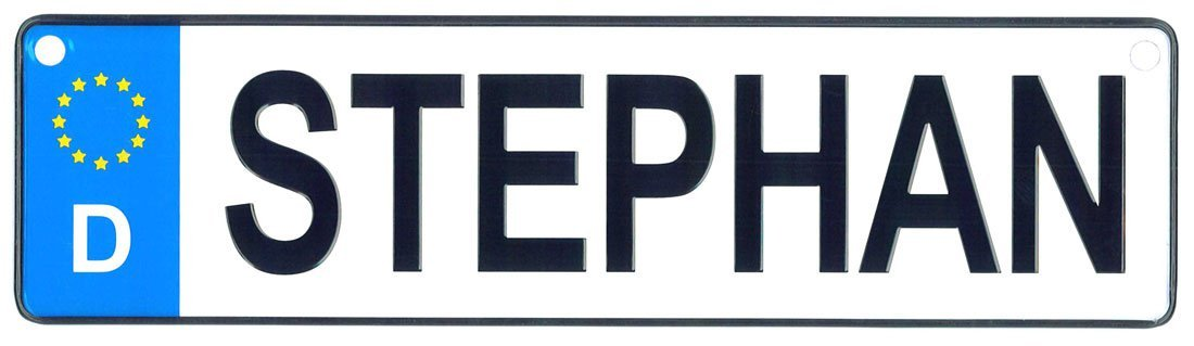 Stephan - European License Plate (Germany)