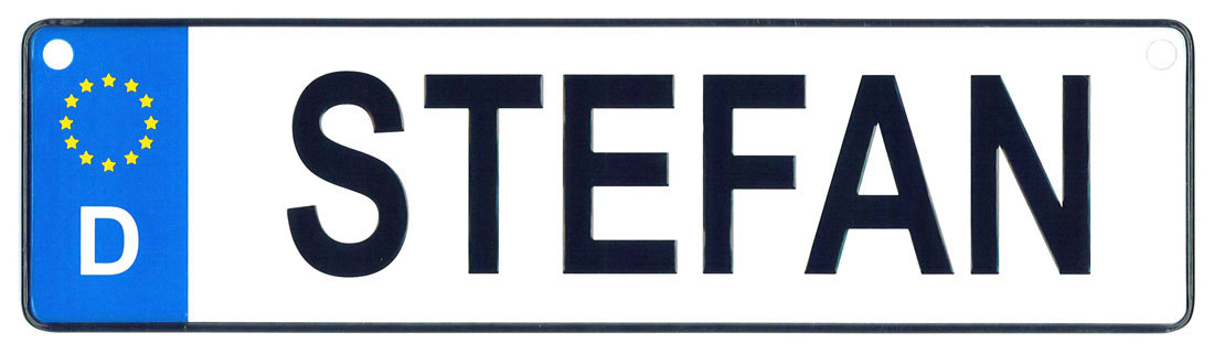 Stefan - European License Plate (Germany)