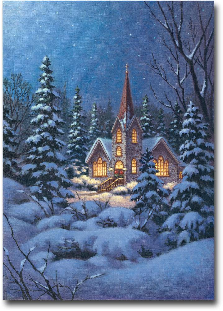 Snowy steeple art banner 94
