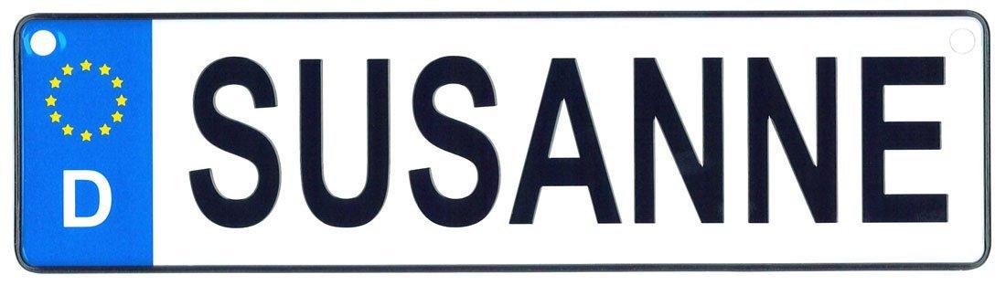 Susanne license plate