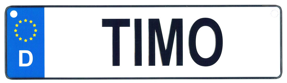 Timo license plate
