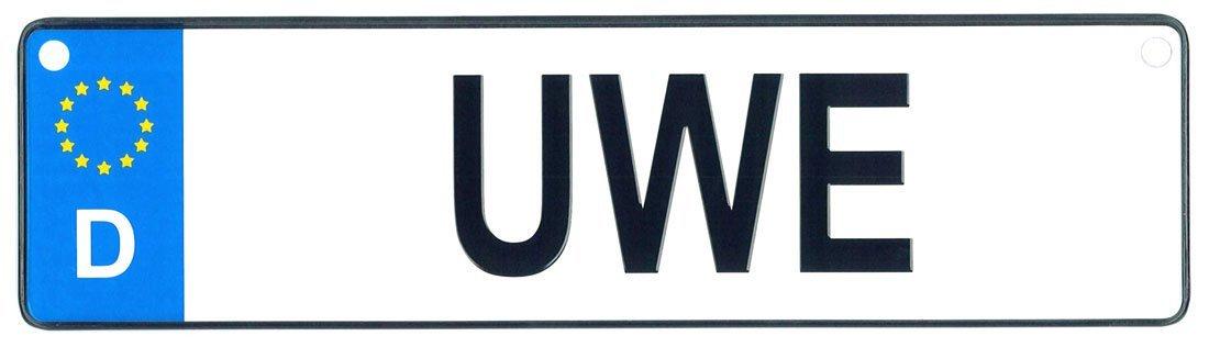 Uwe license plate