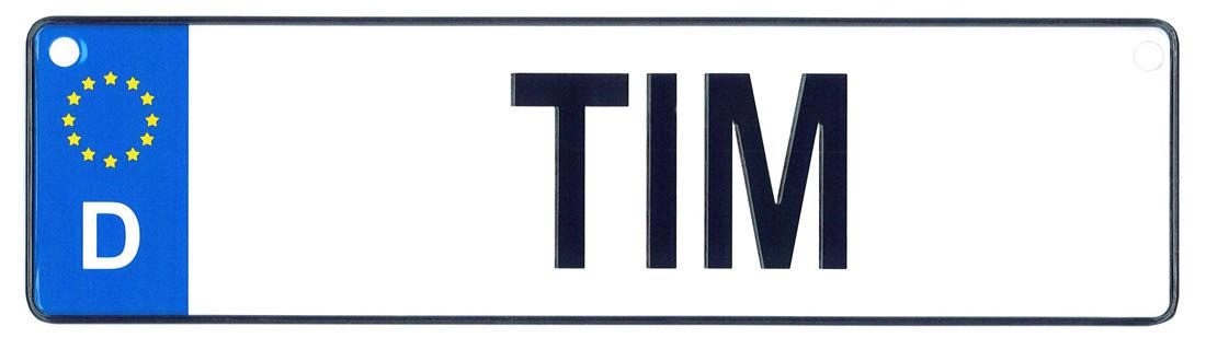 Tim license plate