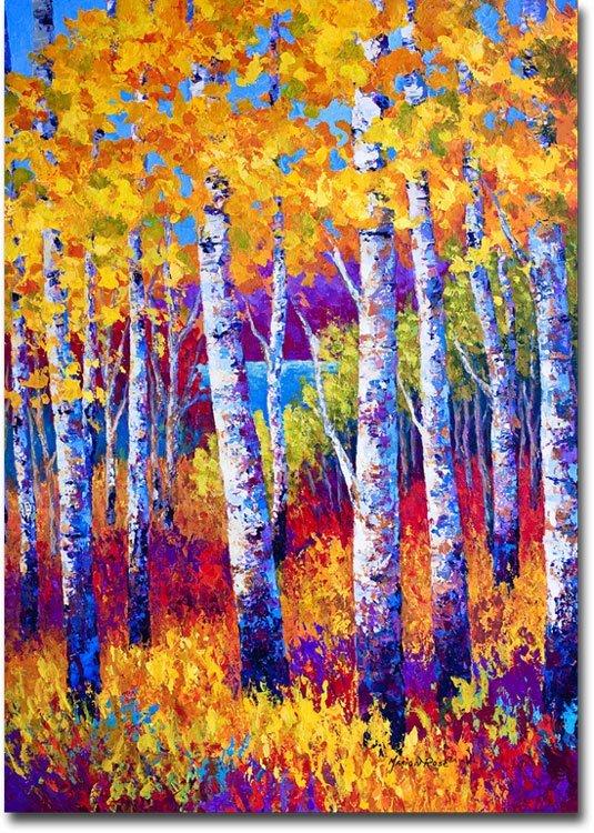 Blissful birches 9553