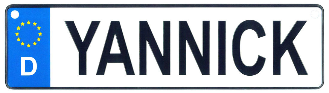 Yannick license plate