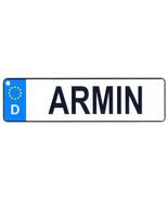 Armin - European License Plate (Germany) - $9.00