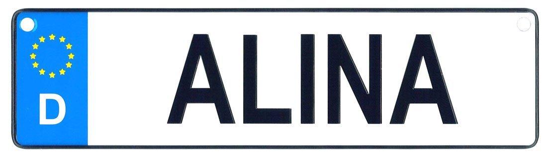 Alina license plate