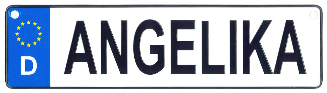 Angelika license plate