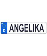 Angelika - European License Plate (Germany) - $9.00