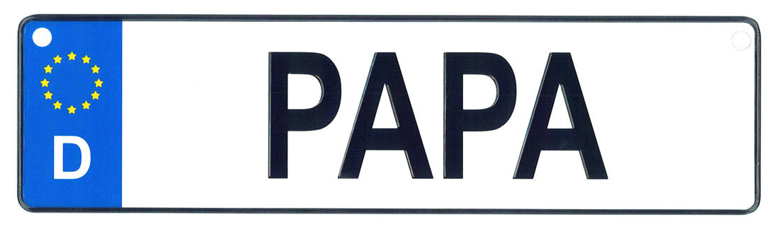 Papa license plate