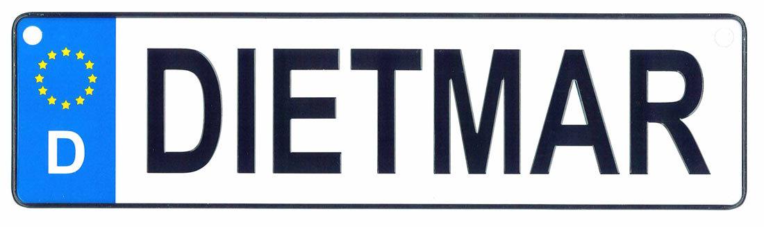 Dietmar license plate