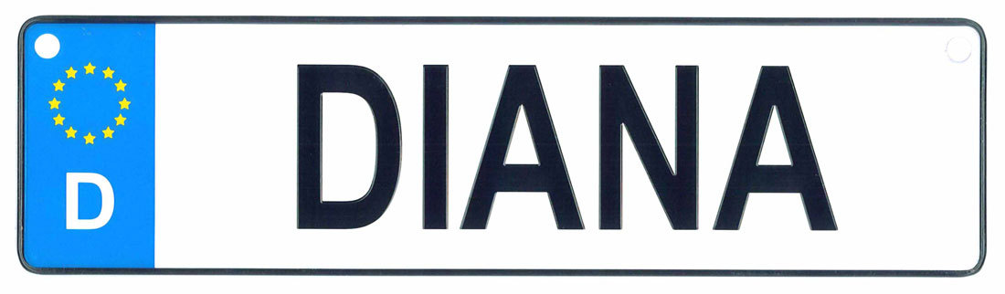 Diana license plate