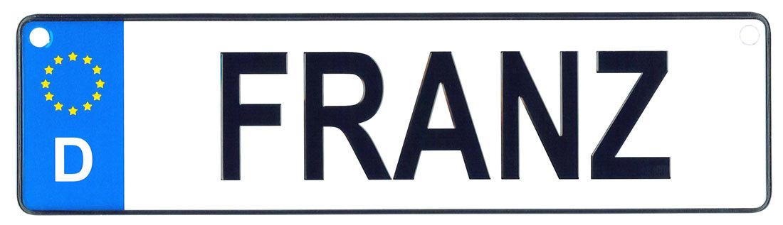 Franz license plate